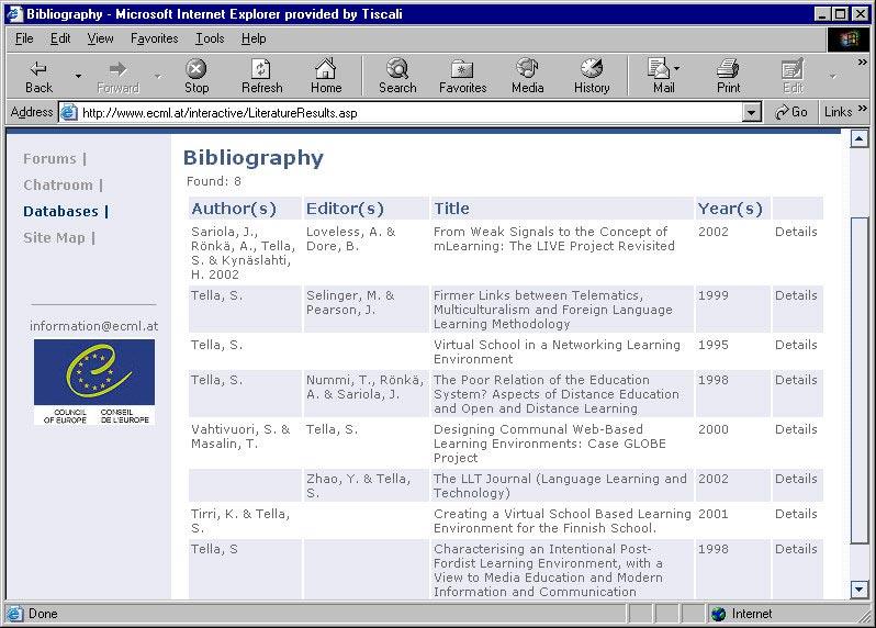Bibiography format
